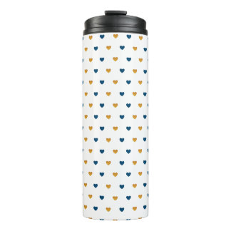 Sprinkle Hearts (Navy/Gold) Thermal Tumbler