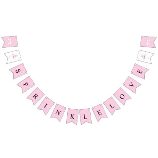 Sprinkle Love Baby Pink Girl Shower Bunting Banner