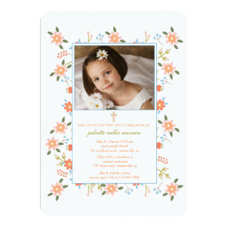Sprinkle of Flowers Photo Invitation