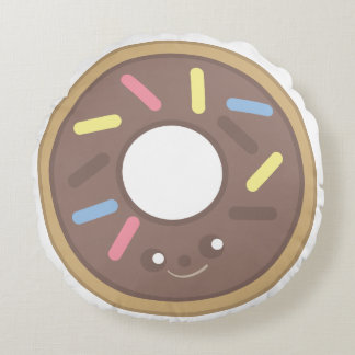 Sprinkle the Doughnut Round Cushion