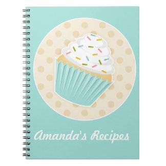 Sprinkled Cupcake Recipe Notebook