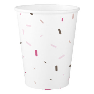 Sprinkles Birthday paper cup