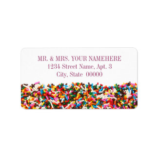 Sprinkles-Filled Address Labels