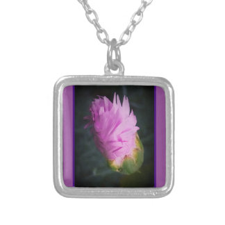 Sprouting Spiral Square Pendant Necklace