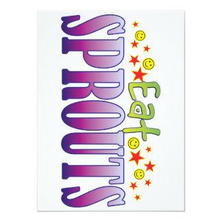 Sprouts Eat 14 Cm X 19 Cm Invitation Card