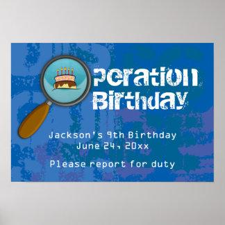 Spy / Secret / Special Agent Birthday Banner Poster