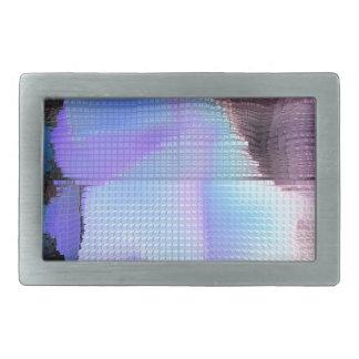 Square #3 design rectangular belt buckles