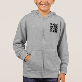 Square Barcode Kids Hoodie