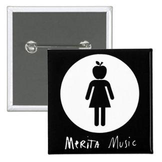 SQUARE BUTTON - MERITA MUSIC