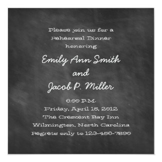 Square Chalkboard Rehearsal Dinner Invitations