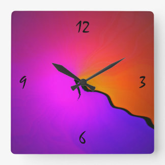 Square Colorful Wall Clock