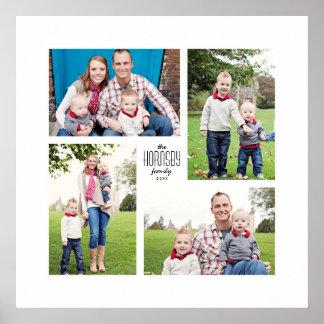 Square Custom Family 4-Photo Print