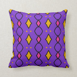 Square decorative cushion, coloured, purple with throw pillow