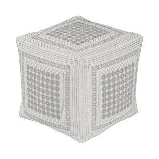 Square Floor Cushion gray black