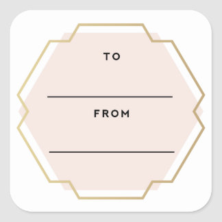 Square Gift Tags for Christmas Holiday Gifts
