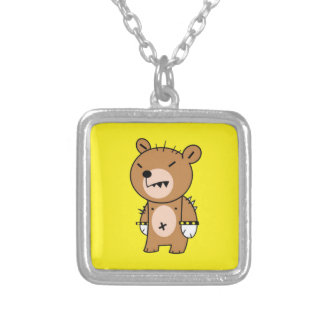 Square Necklace, Angry Bear