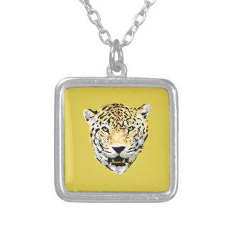 Square Necklace, Big Cat Square Pendant Necklace