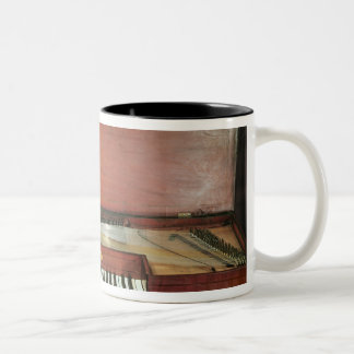 Square piano, 1767 (photo) Two-Tone coffee mug
