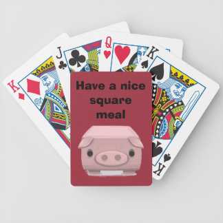 Square  Pig Fun Pun Bicycle Playing Cards