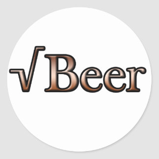Square Root Beer Classic Round Sticker