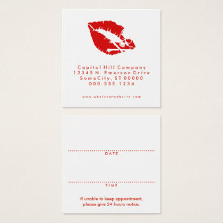 square skull kiss appointment reminder square business card
