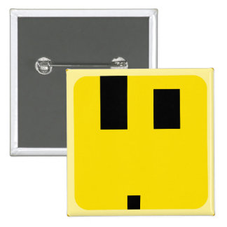 squared smiley what the wtf face 15 cm square badge