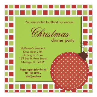 Squares Christmas dinner 13 Cm X 13 Cm Square Invitation Card