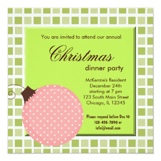 Squares Christmas dinner Card