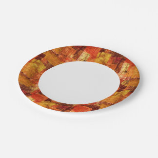 Squares on the grunge wall, abstract background 7 inch paper plate