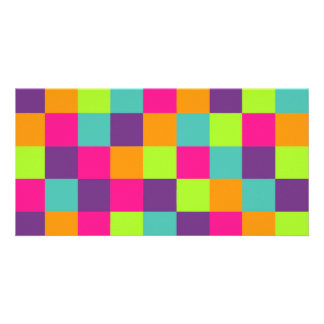 Squares Pattern Customised Photo Card