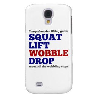 Squat lift wobble drop. Gym motivation Galaxy S4 Case