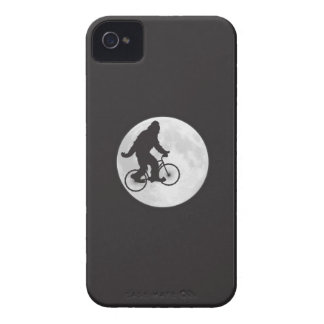 Squatch on a Bike In Sky With Moon T-shirt iPhone 4 Case-Mate Cases