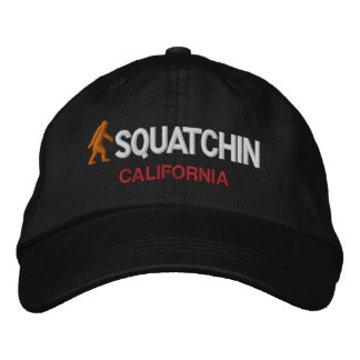 Squatchin your state personalized embroidered hats