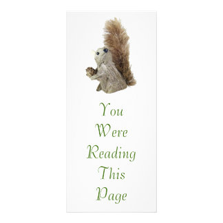 Squirrel Puppet Bookmark Template Rack Card