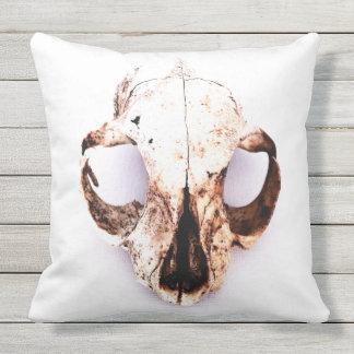 """SQUIRREL SKULL pillow cotton 20"""" wht no quote"""