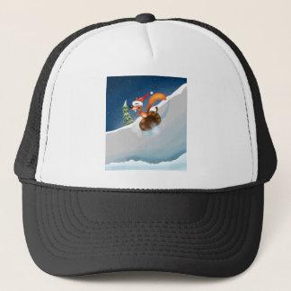Squirrel Snowboarding Trucker Hat