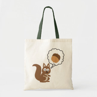 Squirrel Thinking About Nut Tote Bag