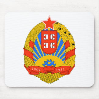 SR Serbia coat of arms Mouse Pad
