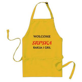 Srbija rakija i gril standard apron