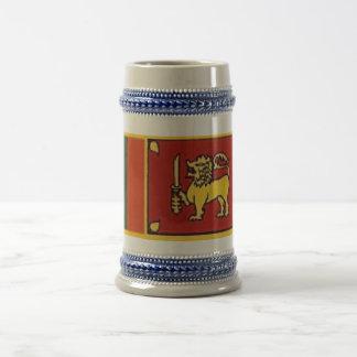 Sri Lanka flag Beer Steins
