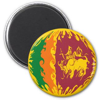 Sri Lanka Gnarly Flag Fridge Magnets