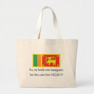 Sri Lanka Large Tote Bag