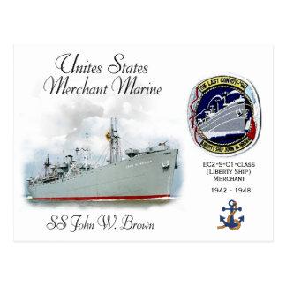 SS John W. Brown (Liberty Ship) Postcard