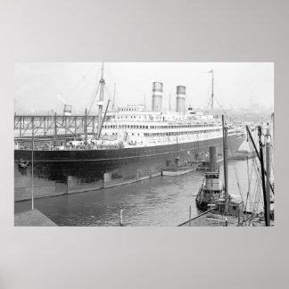 SS Rotterdam Poster