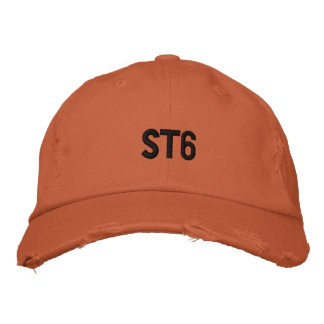 ST6 Distressed Embroidered Hat