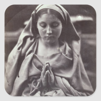 St. Agnes (albumen print) Square Sticker