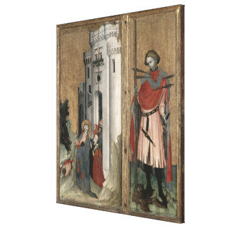 St. Andrew Chasing Demons from the Town Canvas Print