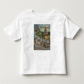 St. Anthony, Idaho - Large Letter Scenes Toddler T-Shirt