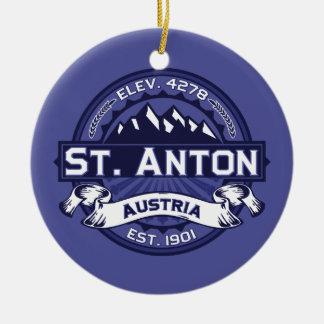 St. Anton Logo Midnight Christmas Ornament