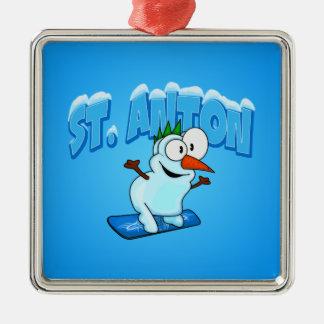 St. Anton Snowman Christmas Ornament